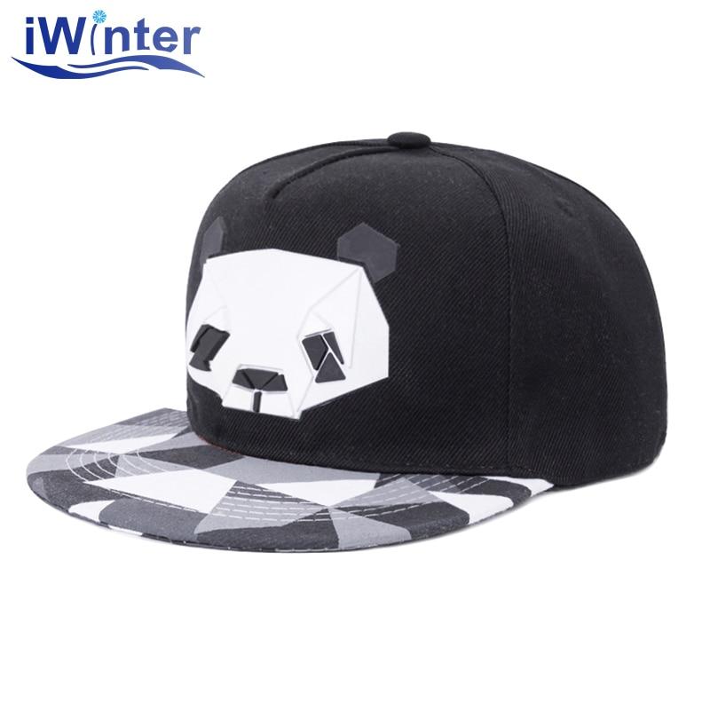 Enthusiastic Iwinter New Arrive Snapback For Men Women Snapback Hat Outdoor Hat Style Snapback Cap Cute Panda Hip Hop Cap Adjustable
