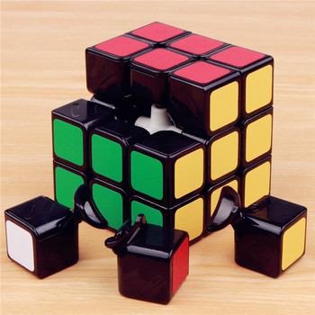 57mm Classic Magic cube 3 on 3 PVC Sticker Block Puzzles Speed Cube 3x3x3 Colorful Educational