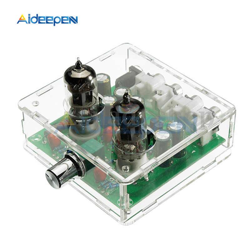 Акриловый чехол 6J1 клапан Предварительный усилитель плата трубного предусилителя наушников буферный усилитель прозрачный