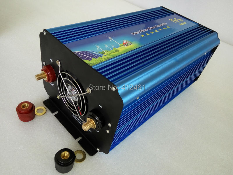 Power Inverter 4000W Pure Sine Wave Inverter DC 12V to AC 220V Car Converter Solar Power Inverter Peak Power 8000W