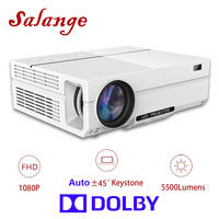 Salange T26DBK проектор Full HD, 5500 люмен, светодиодный проектор, дома театр, HDMI VGA USB, 1080 P фильм развёртки Поддержка DOLBY аудио