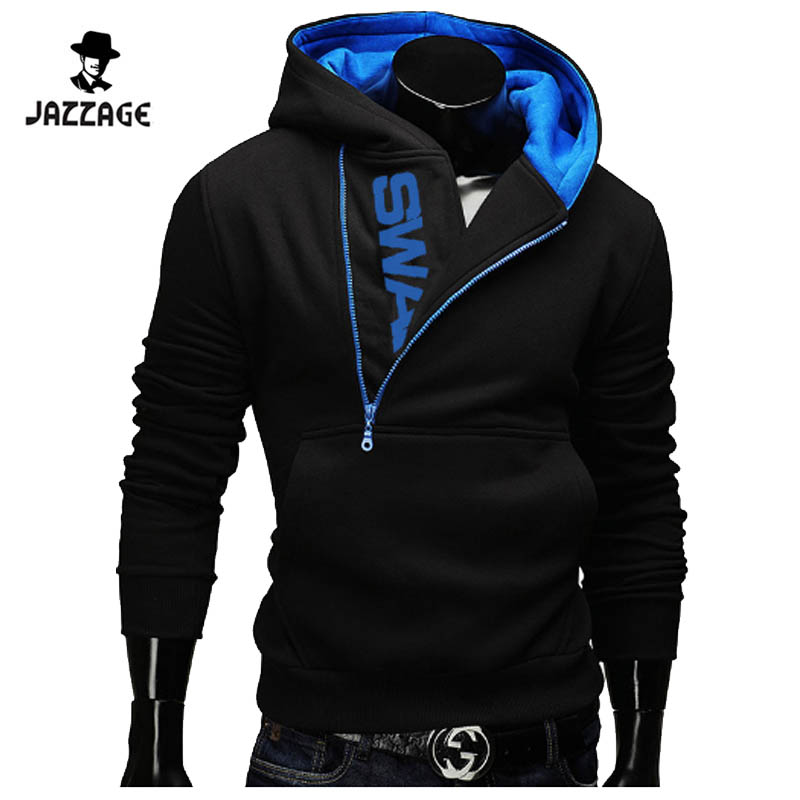 Hoodies Men 2018 Brand Male Hoodie Sweatshirt Mens Oblique Zipper Moletom Masculino Hoodies Slim Tracksuit Large Size 4XL