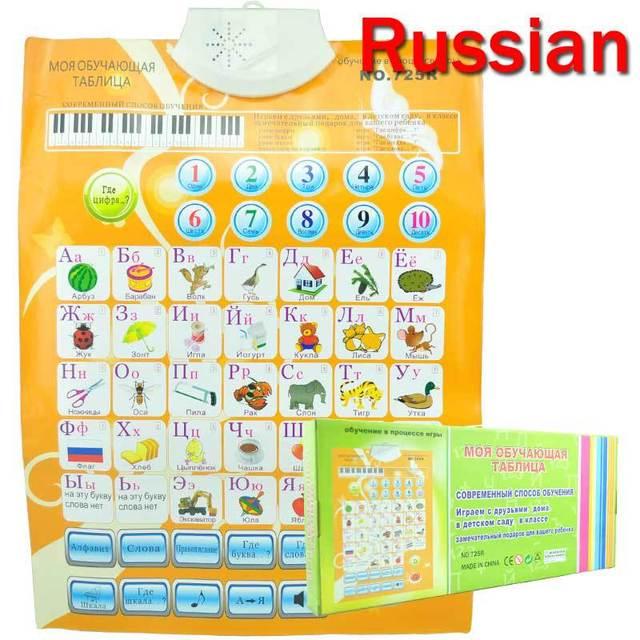 Flip Charts Russian Language Children Kids Learning Machine Educational Toys Map Plenty of stock Next day shipping