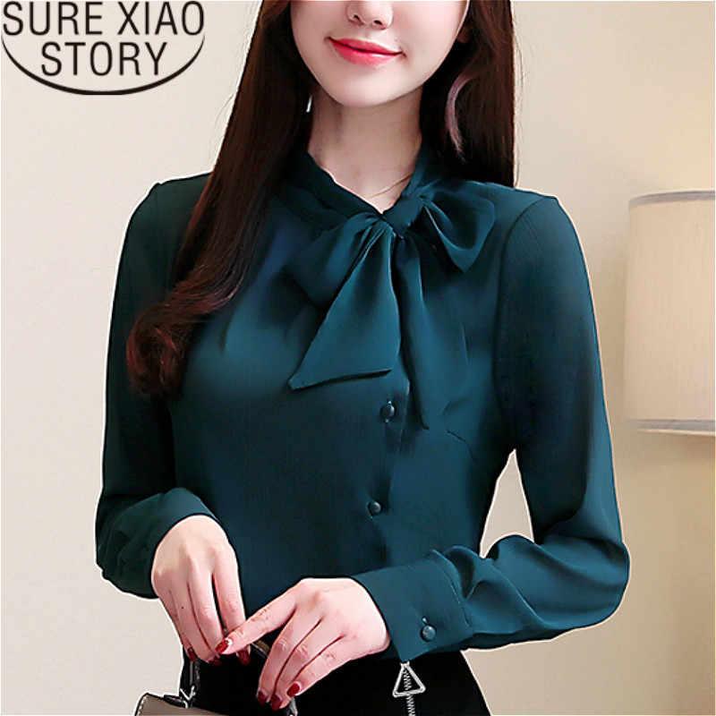 72ca90f4 2019 fashion clothing long sleeve shirts harajuku women white shirts ladies  tops bow Solid womens tops