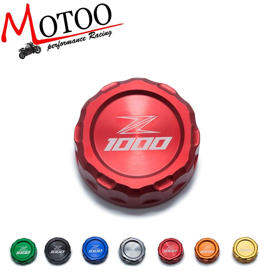 Motoo-LIVRAISON GRATUITE vente Chaude Pour KAWASAKI Z1000 10-14 moto Accessoires De Frein Arrière Réservoir de Liquide Cap Tasse D'huile avec logo