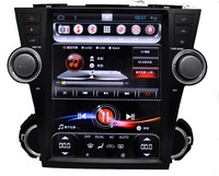 car PC stereo head unit vedio audio in Vertical screen 12.1 inch Android 6.0 Car DVD player for toyota highlander with gps