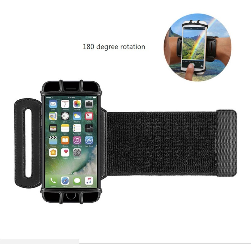SzBlaZe Professional Rotatable Running Bag Wrist Band Arm cell phones Holder Sport pocket accessories For Gym Fitness Jogging 12