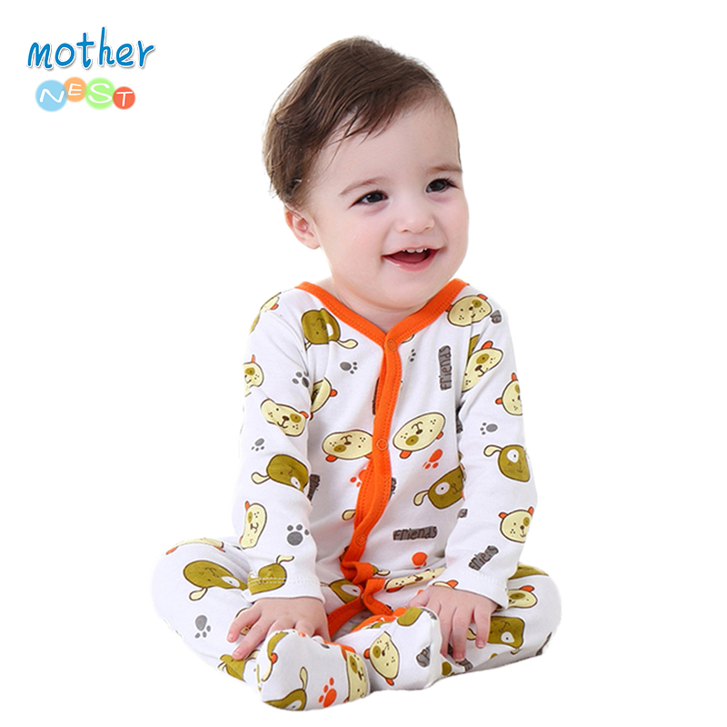 Mother Nest Baby Clothes Boy Spring/Autumn 0-12 M Baby Romper Unisex Winter Bear Printed New Born Baby Clothing накладки для пеленания candide коврик с валиками овальный baby nest 82x52