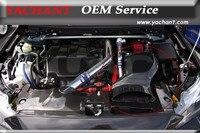Углеродное волокно воздухозаборник коробка подходит для 08 13 Mitsubishi Lancer Evolution X EVO 10 h KAISAI стиль Air Box w/Металлический фитинг комплект