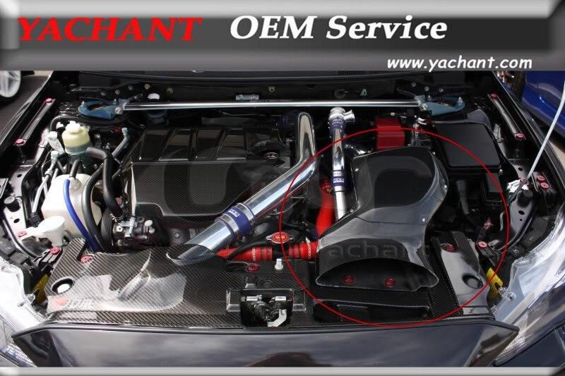 Carbon Fiber Air Intake Box Fit For 08-13 Mitsubishi Lancer Evolution X EVO X EVO 10 H KAISAI Style Air Box W/ Metal Fitting Kit