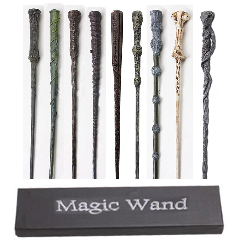 LED Harry Potter Light UP Wand Hermione Dumbledore Snape Voldemort Magic Wand With Box Near Year Gift Gift 15 Styles
