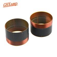 GHXAMP 75.5mm וופר קול סליל זכוכית סיבי טהור נחושת חוט שתי שכבות 75.5mm שלב רמקול בס סליל קול אביזרי 2pc