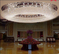 1 1.5 2 3 meters LED oval living room crystal lamp high end atmosphere ceiling lamp hotel lobby led lighting fixture for room