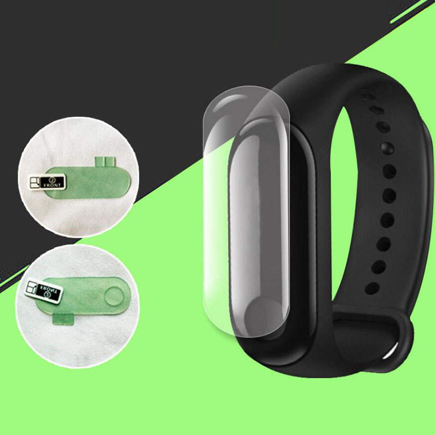 2Pcs Screen Protector Film For Xiaomi Mi Band 3 Smart Wristband Bracelet Full Cover Protective Films Not Tempered Glass цена
