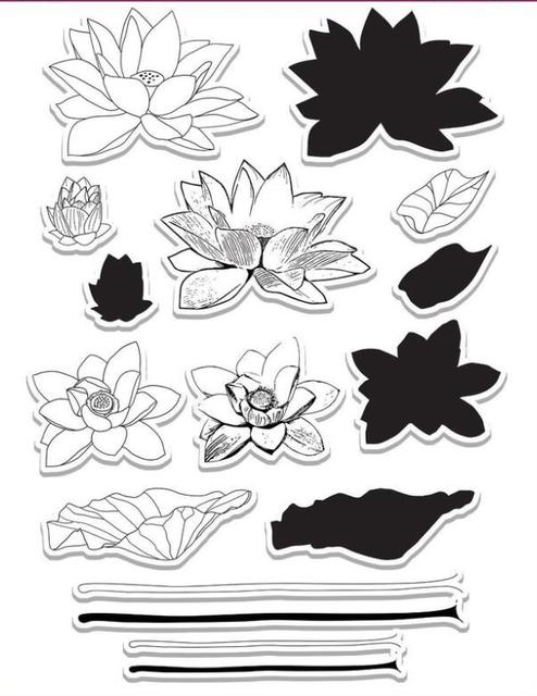 Lotus Flower Transparent Clear Stamps Silicone Seals For Diy