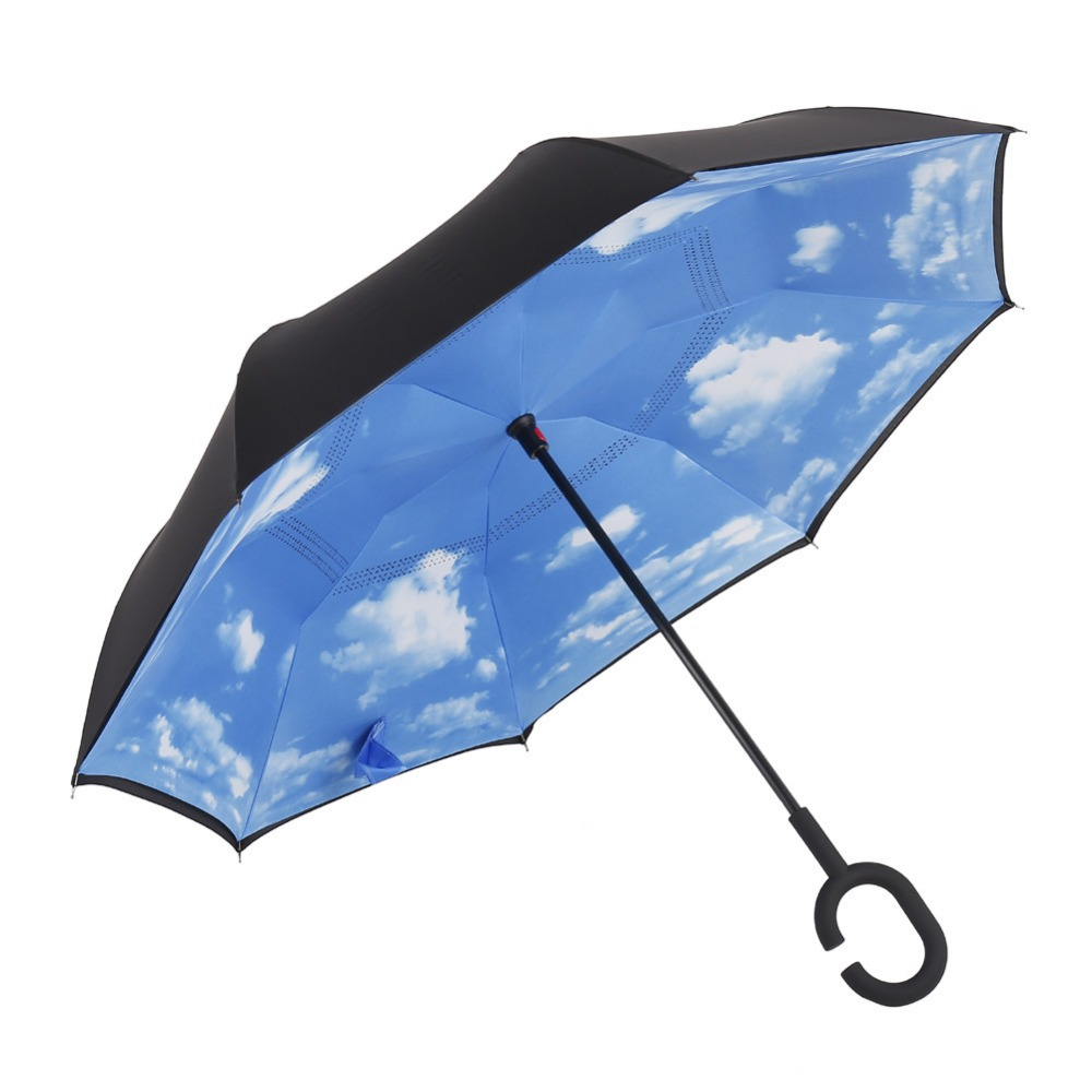 Online color invert picture - Generic Double Layer Upside Down Windproof Uv Protection Inverted Umbrella Straight Reverse Design Umbrella For Car