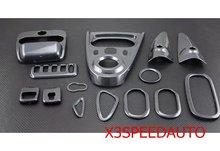 Free Shipping Chromed 14 PCS Black Interior Door Handle Headling Adjustment Box Decoration Trim For Mercedes-Benz Smart 2015