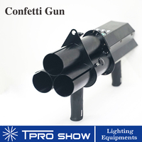 3 Heads Confetti Cannon 3 Shot Confetti Gun Blower Dmx 3CH DJ Gun Hand Control Paper Effect Machine for Stage Wedding Decoration