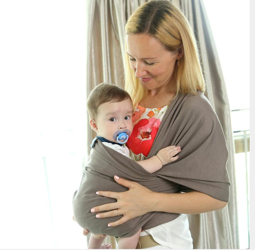Hot Sale New Style Baby Ring Sling Solid Color 95 Cotton Baby Wrap
