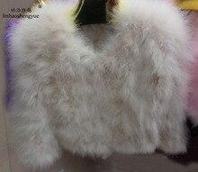 long 53cm 2015 autumn and winter ostrich fur coat wool outerwear short design long sleeve