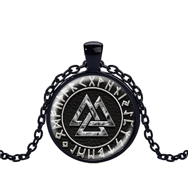 Norway Valknut pagan symbol amulet Pendant Men Jewelry Necklace Viking Scandinavian Odin of Nordic Viking Warrior 4