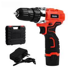 цена на Cordless Screwdriver Power Tools with Plastic case Electric Drill Cordless drill screwdriver Lithium Battery  Furadeira