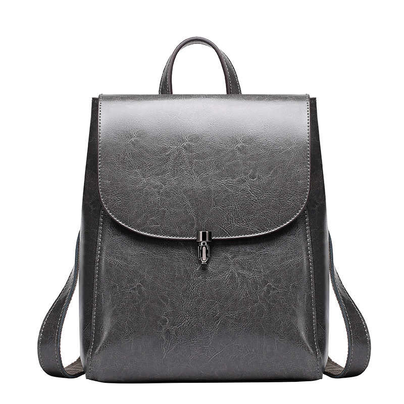 100% Cow leather Backpack genuine leather mochila brand 2018 women Fashion shoulder bag Autumn new school bag free shipping
