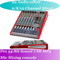 MICWL NL6 6 Channel 99 Audio effect USB Studio Microphone Bluetooth Wireless Mixers Mixing Console Processor 24-Bit