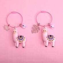 New Qualitied Original cartoon Lamb cute Luck Zodiac Alpaca keychain Girl key ring Simulation Animals Keychain Pendant Jewelry