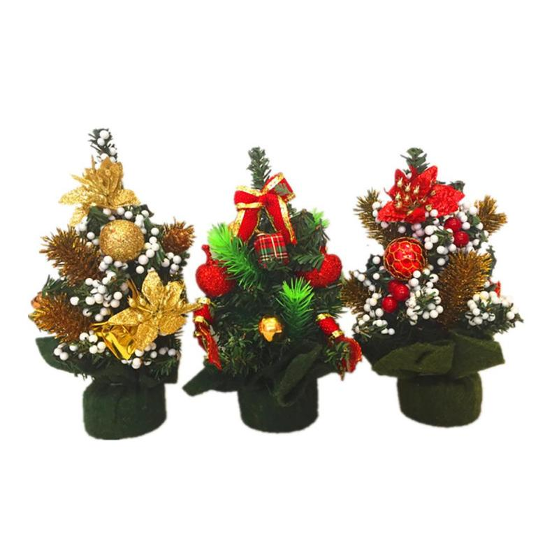 Mini small tiny artificial christmas tree holiday indoor for Small christmas decorations