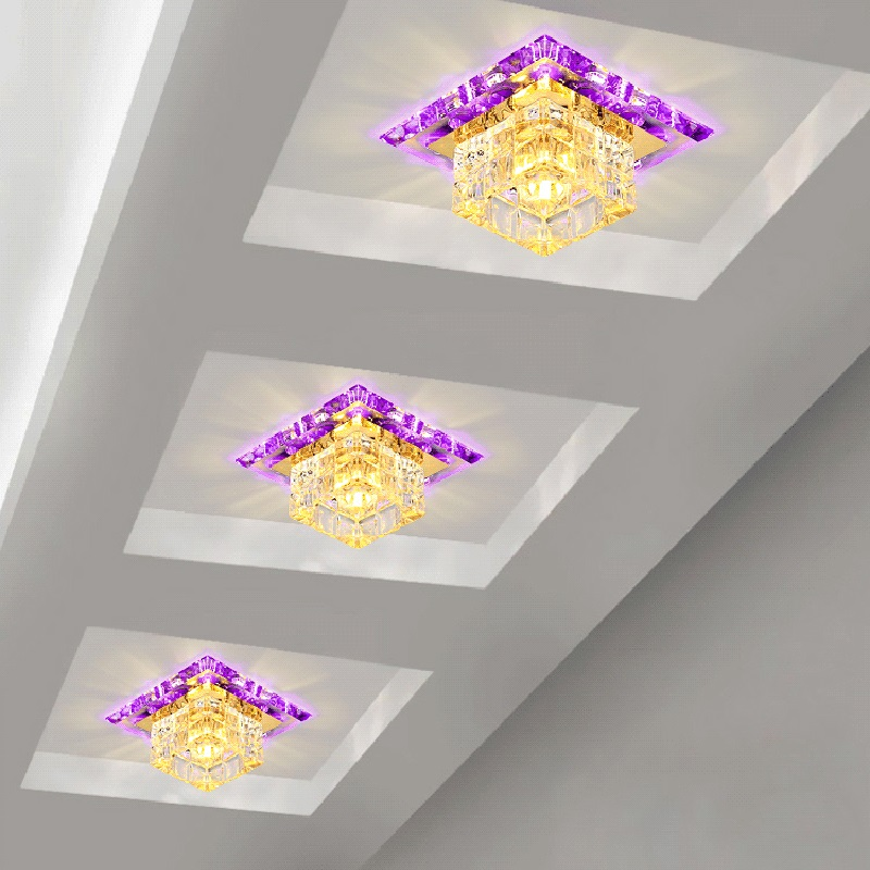 LAIMAIK Crystal LED Ceiling Light 3W 5W Modern LED Ceiling Light AC90-260V Aisle Corridor LED Light Crystal Ceiling LED Light