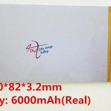 Хорошее качество 3,7 в 6000 мАч(настоящий 5200 мАч) литий-ионный аккумулятор для CHUWI V88, V971, Pipo M9 планшетный ПК, 3,2*82*150 мм