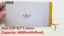 جيد كوليتي 3.7 V 6000 mAH (ريال 5200 mAh) بطارية ليثيوم أيون ل CHUWI V88 ، V971 ، بيبو M9 اللوحي ، 3.2*82*150 مللي متر