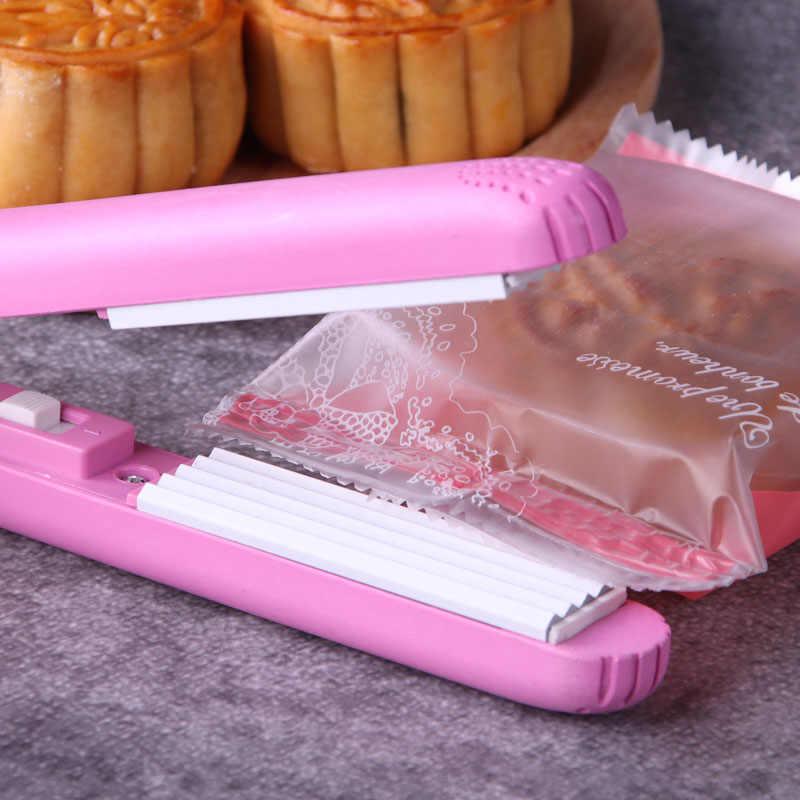 Creative Practical Household Multifuncational Food Vacuum Sealer Bag Clip Handheld Mini Portable Electric Heat Sealing Machine