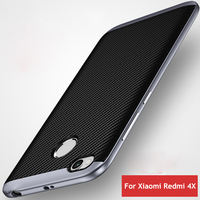 Hybrid Case For Xiaomi Redmi 4X Silicone Case For Xiaomi Redmi 4X Pro 2 In 1 PC Frame +Soft TPU Back Cover For Redmi 4X BA296
