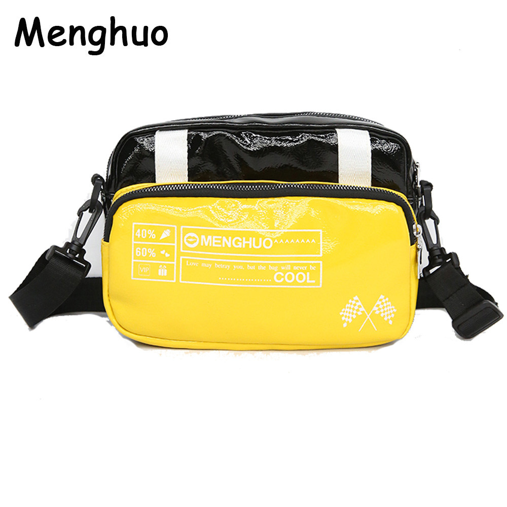 Menghuo High Quality Small Ladies Messenger Bags Leather Shoulder Bag Women Crossbody Bag for Girl Brand Women Handbags Panelled