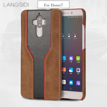 wangcangli mobile phone shell For Huawei Honor7 case advanced custom cowhide and diamond texture Leather Case