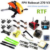 FPV Robocat 270 V3 Cross Race Quadcopter Mini Drone Mini CC3D 2204II 2300KV Motor AT9 Remote