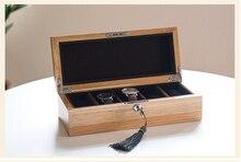 Эксклюзивная модная оригинальные дубовые 5-сетка коробка вахты деревянный корпус часов кварцевые часы коробки подарок ящик для хранения MSBH004f