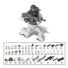 Military Swat Guns Weapon Pack Building Blocks Police Soldiers Figure WW2 LegoINGlys Army Builder Series Toys