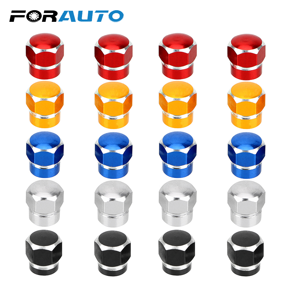 4Pcs Car Vehicle Wheel Bicycle Air Caps Airtight Stem Dust Covers Motorcycle Tire Valve Stem Caps Nuts & Bolts Auto Accessories