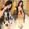 Envío gratis tamaño grande 160 X 70 CM 2013 transporte y cadena de la bufanda larga pañuelo de gasa mujeres de corea versión pañuelo de seda 2 colores