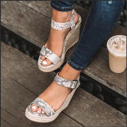 e4eb28773c Adisputent Summer Ultra High Wedges Heel Sandals Fashion Open Toe Platform  Elevator Women Sandals Shoes Plus