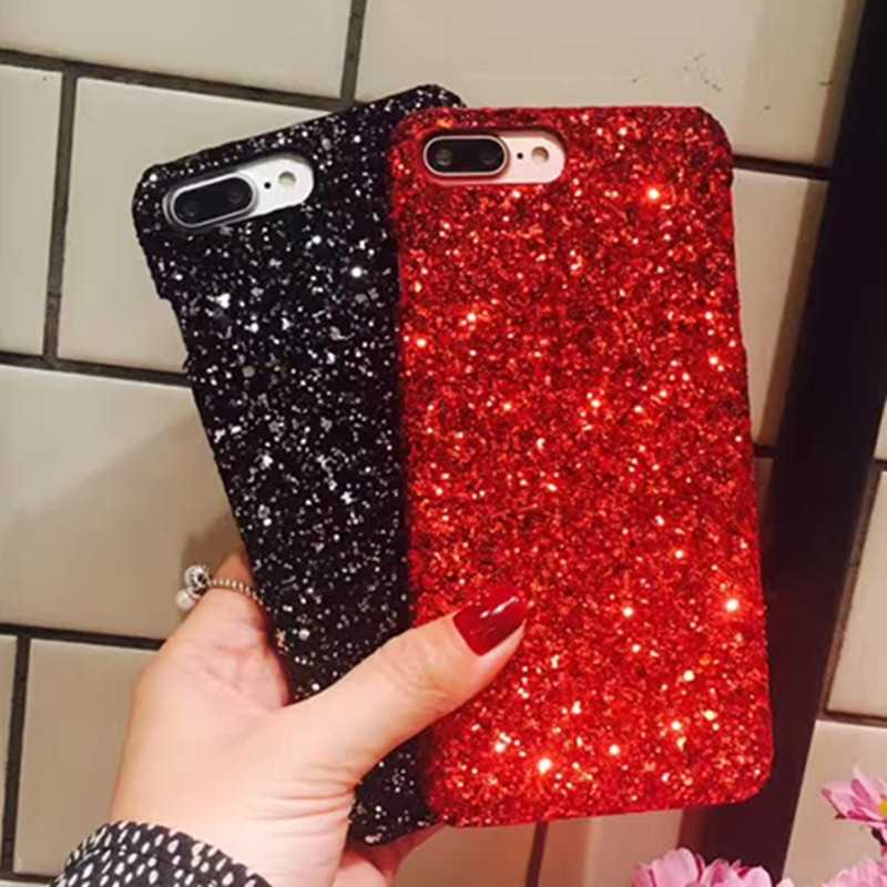 Luxury Bling Glitter สำหรับ iPhone X XR XS สูงสุด 8 7 6 6 S Plus 5 5 S SE กรณี Hard Back สำหรับ iPhone 8 8 Plus Fundas