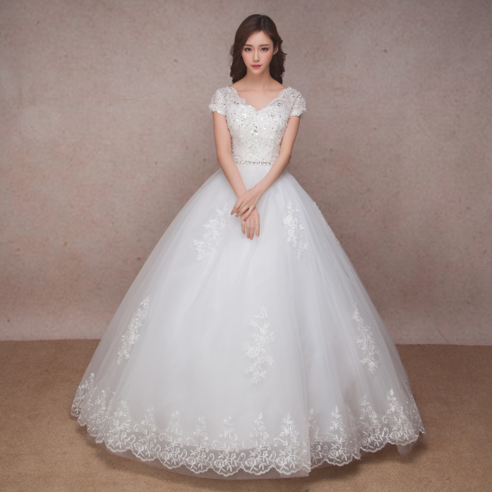 Lace Vintage Wedding Dress 2016 Bride Simple Pregnant