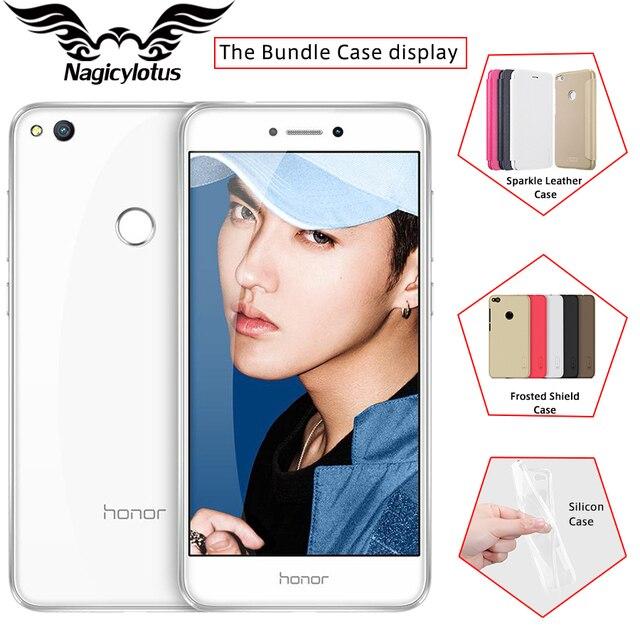 "В наличии оригинал Huawei Honor 8 Lite 4 г LTE мобильный телефон 4 ГБ оперативной памяти 32 ГБ ROM KIRIN 655 Восьмиядерный 5.2 ""FHD 1920*1080 P 12MP 3000 мАч"