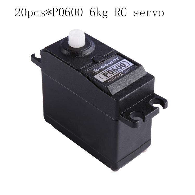 20 pièces k-power P0600 Servo analogique 6 kg JR prise servo en plastique pour pièce modèle RC