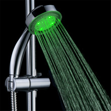 LED bathroom Color smart light shower with single green color with color box