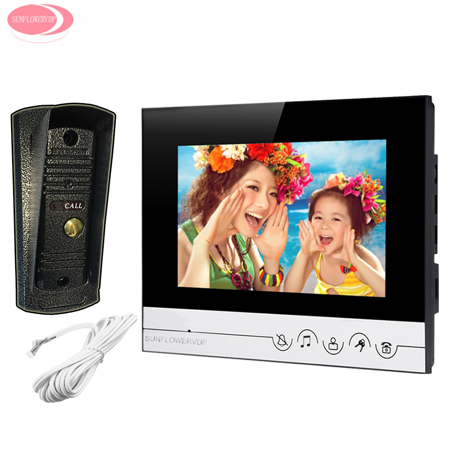 Video Door Phone For Home 7 Color Screen +Metal Waterproof Infared Night Vision Camera Video Door Intercom System Door Monitor