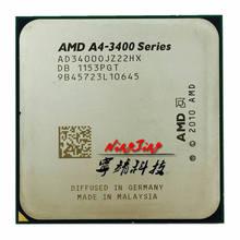 Amd A4-Series A4-3400 a4 3400 2.7 ghz processador central de núcleo duplo ad3400ojz22gx soquete fm1